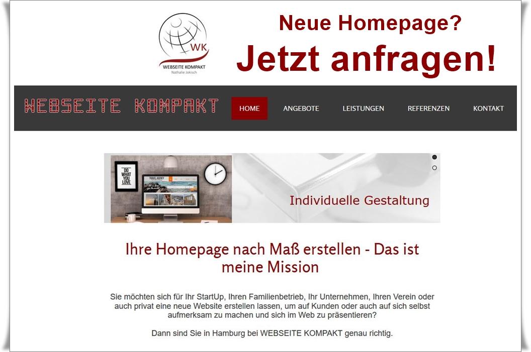 Webseite Kompakt, Homepage erstellen lassen Hamburg